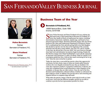 San Fernando Valley Business Journal Business Team of the Year