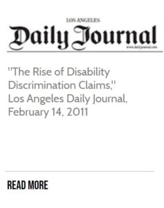 Daily Journal Article The Rise of Disability Discrimination Claims
